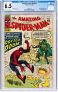Silver Age (1956-1969):Superhero, The Amazing Spider-Man #5 (Marvel, 1963) CGC FN+ 6.5 Off-white to white pages....