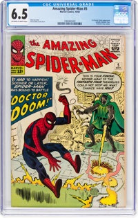The Amazing Spider-Man #5 (Marvel, 1963) CGC FN+ 6.5 Off-white to white pages