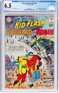 Silver Age (1956-1969):Superhero, The Brave and the Bold #54 Kid Flash, Robin, and Aqualad (DC, 1964) CGC FN+ 6.5 Off-white to white pages....