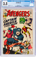 Silver Age (1956-1969):Superhero, The Avengers #4 (Marvel, 1964) CGC GD+ 2.5 Cream to off-white pages....