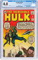 The Incredible Hulk #3 (Marvel, 1962) CGC VG 4.0 Off-white to white pages