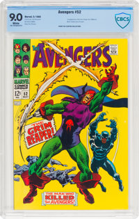 The Avengers #52 (Marvel, 1968) CBCS VF/NM 9.0 White pages
