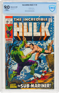 Silver Age (1956-1969):Superhero, The Incredible Hulk #118 (Marvel, 1969) CBCS VF/NM 9.0 White pages....