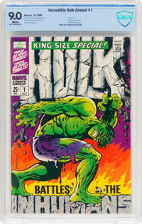 The Incredible Hulk Annual #1 (Marvel, 1968) CBCS VF/NM 9.0 White pages