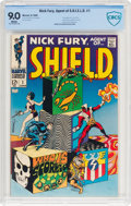 Silver Age (1956-1969):Superhero, Nick Fury, Agent of S.H.I.E.L.D. #1 (Marvel, 1968) CBCS VF/NM 9.0 White pages....