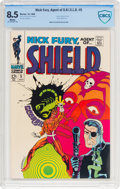 Silver Age (1956-1969):Superhero, Nick Fury, Agent of S.H.I.E.L.D. #5 (Marvel, 1968) CBCS VF+ 8.5 White pages....