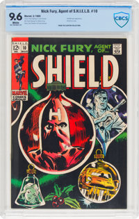 Nick Fury, Agent of S.H.I.E.L.D. #10 (Marvel, 1969) CBCS NM+ 9.6 White pages
