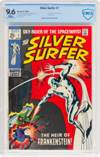 The Silver Surfer #7 (Marvel, 1969) CBCS NM+ 9.6 White pages