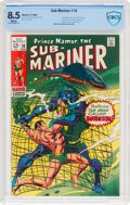 Silver Age (1956-1969):Superhero, The Sub-Mariner #10 (Marvel, 1969) CBCS VF+ 8.5 White pages....