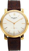 Timepieces:Wristwatch, Patek Philippe Ref. 2572 Gent's Gold Wristwatch, circa 1958. ...