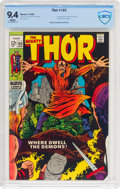 Silver Age (1956-1969):Superhero, Thor #163 (Marvel, 1969) CBCS NM 9.4 White pages....
