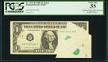 Error Notes:Foldovers, Fr. 1913-B $1 1985 Federal Reserve Note. PCGS Very Fine 35.. ...
