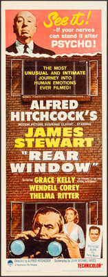 "Rear Window (Paramount, R-1962). Folded, Very Fine-. Insert (14"" X 36""). Hitchcock"