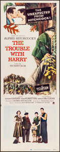 """Movie Posters:Hitchcock, The Trouble with Harry (Paramount, 1955). Folded, Very Fine-.Insert (14"""" X 36""""). Hitchcock.. ..."""
