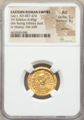 Ancients:Roman Imperial, Ancients: Leo I the Great, Eastern Roman Empire (AD 457-474). AV solidus (20mm, 4.45 gm, 6h). NGC AU 5/5 - 3/5, graffito, die shift....