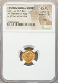 Ancients:Roman Imperial, Ancients: Leo I the Great, Eastern Roman Empire (AD 457-474). AVtremissis (14mm, 1.49 gm, 6h). NGC Choice AU 5/5 - 3/5, marks....