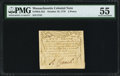 Colonial Notes:Massachusetts, Massachusetts October 16, 1778 2d PMG About Uncirculated 55.. ...
