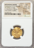 Ancients:Byzantine, Ancients: Constantine IV Pogonatus (AD 668-685). AV solidus (18mm,4.24 gm, 7h). NGC AU 3/5 - 3/5, clipped, graffito....