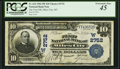 National Bank Notes:Montana, Miles City, MT - $10 1902 Plain Back Fr. 624 The First NB Ch. # 2752 PCGS Extremely Fine 45.. ...