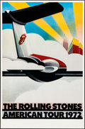 """Movie Posters:Rock and Roll, The Rolling Stones American Tour 1972 (Sunday Promotions, 1972). Rolled, Very Fine. Poster (25"""" X 38""""). Rock and Roll.. ..."""