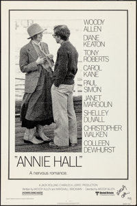 """Annie Hall (United Artists, 1977). Folded, Fine/Very Fine. Autographed One Sheet (27"""" X 41""""). Comedy"""