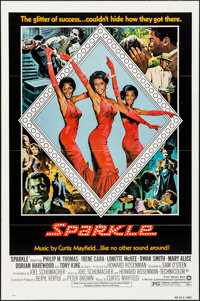 """Sparkle (Warner Brothers, 1976). Folded, Very Fine-. One Sheets (2) Identical (27"""" X 41"""") Style B. Black Films..."""