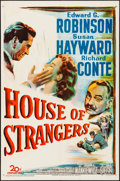 "Movie Posters:Film Noir, House of Strangers (20th Century Fox, 1949). Folded, Very Fine-. One Sheet (27"" X 41""). Film Noir.. ..."