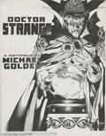 Original Comic Art:Miscellaneous, Michael Golden - Doctor Strange Portfolio (Marvel, 1983). Sixwondrous pen and ink illustrations by Michael Golden are featu...