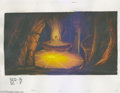 Original Comic Art:Miscellaneous, Heavy Metal 2000 Background Painting Original Art (Heavy Metal,2000). This majestic underground chamber filled with an unea...