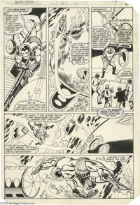 Luke McDonnell, Mike Esposito and Steve Mitchell - Iron Man #161, page 7 Original Art (Marvel, 1982). Shellhead takes a...