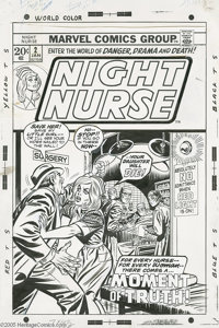 John Romita Sr. and Frank Giacoia - Night Nurse #2 Cover Original Art (Marvel, 1973). A father fraught with worry tries...