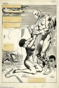 Original Comic Art:Splash Pages, Jim Sherman and The Tribe - The Deadly Hands of Kung Fu #26, page16 Splash Page Original Art (Marvel, 1976). The Deadly H...