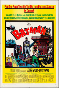 "Batman (20th Century Fox, 1966). Folded, Very Fine-. One Sheet (27"" X 41""). Action"