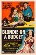 """Movie Posters:Comedy, Blondie on a Budget (Columbia, 1940). Folded, Fine/Very Fine. One Sheet (27"""" X 41""""). Comedy.. ..."""