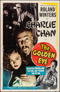 "The Golden Eye (Monogram, 1948). Folded, Very Fine-. One Sheet (27"" X 41""). Mystery"