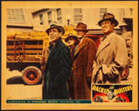 """Racket Busters (Warner Brothers, 1938). Very Fine-. Linen Finish Lobby Card (11"""" X 14""""). Crime"""