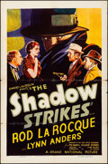 "Movie Posters:Mystery, The Shadow Strikes (Grand National, 1937). Folded, Fine+. One Sheet (27"" X 41""). Mystery.. ..."