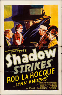 "The Shadow Strikes (Grand National, 1937). Folded, Fine+. One Sheet (27"" X 41""). Mystery"