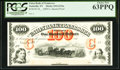 Obsoletes By State:Tennessee, Nashville, TN- Union Bank of Tennessee $100 18__ G232a, as Garland 770 PCGS Choice New 63PPQ.. ...