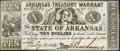 Obsoletes By State:Arkansas, (Little Rock), AR- Arkansas Treasury Warrant $10 July 18, 1862 Cr. 54 Choice About Uncirculated.. ...