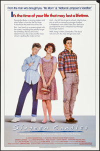 "Sixteen Candles (Universal, 1984). Folded, Very Fine-. One Sheet (27"" X 41""). Comedy"