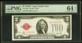 Small Size:Legal Tender Notes, Fr. 1503 $2 1928B Legal Tender Note. PMG Choice Uncirculated 64 EPQ.. ...