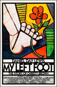 "My Left Foot (Miramax, 1989). Folded, Very Fine-. One Sheet (27"" X 41"") Seltzer Artwork. Drama"