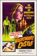 "Movie Posters:Horror, Nightmare Castle (Allied Artists, 1965). Folded, Very Fine-. One Sheet (27"" X 41""). Horror.. ..."