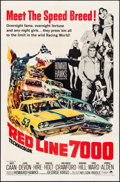 "Movie Posters:Sports, Red Line 7000 (Paramount, 1965). Folded, Very Fine-. One Sheet (27"" X 41""). Sports.. ..."