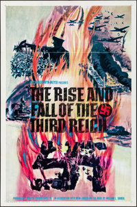 """The Rise and Fall of the Third Reich (ABC, 1968). Folded, Fine+. International One Sheet (27"""" X 41""""). Document..."""