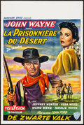 "Movie Posters:Western, The Searchers (Warner Brothers, 1956). Rolled, Very Fine-. Belgian (14"" X 21""). Western.. ..."