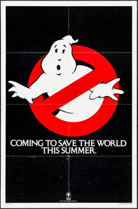"""Ghostbusters (Columbia, 1984). Folded, Fine/Very Fine. One Sheet (27"""" X 41"""") Teaser. Comedy"""