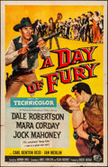 """Movie Posters:Western, A Day of Fury & Other Lot (Universal International, 1956). Folded, Fine/Very Fine. One Sheet (27"""" X 40.5""""), Insert (14"""" X 36... (Total: 12 Items)"""