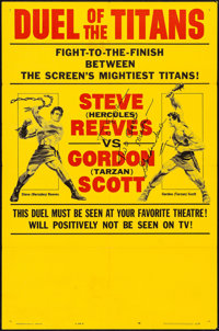 """Duel of the Titans (Paramount, 1963). Folded, Fine/Very Fine. Autographed One Sheet (27"""" X 41"""") Style B. Actio..."""